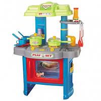Кухня игровая детская свет, звук, набор посудки