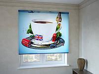 Рулонные шторы с фотопечатью чашка Английского чая