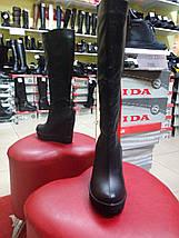 Демисезонные кожаные сапоги на тракторной подошве LEXI, фото 3