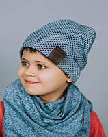 Весенняя шапка для мальчика/Весняна шапка для хлопчика. Модель Бруклин.
