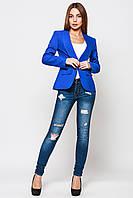 Пиджак женский Жанна синий электрик