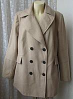 Пальто женское демисезонное элегантное шерсть большой размер бренд Apt.9 р.58 5505, фото 1