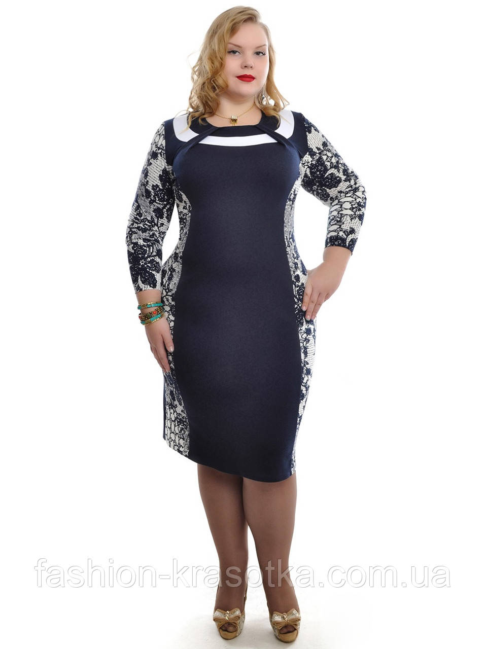 Платье прямое ,размеры 46-62,модель ДК 525