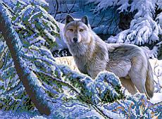 Вышивка бисером Волки