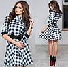 Платье молодёжное № 1046 клетка (kux)