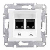 Розетка Schneider-Electric Sedna Компьютерная двойная UTP кат. 6 белая ( SDN4800121)