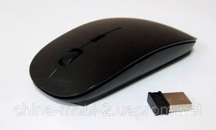 Мышь беспроводная (в стиле Apple), black, фото 2
