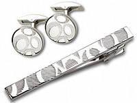 Стильный набор заколка для галстука и запонки S.Quire EG-16466