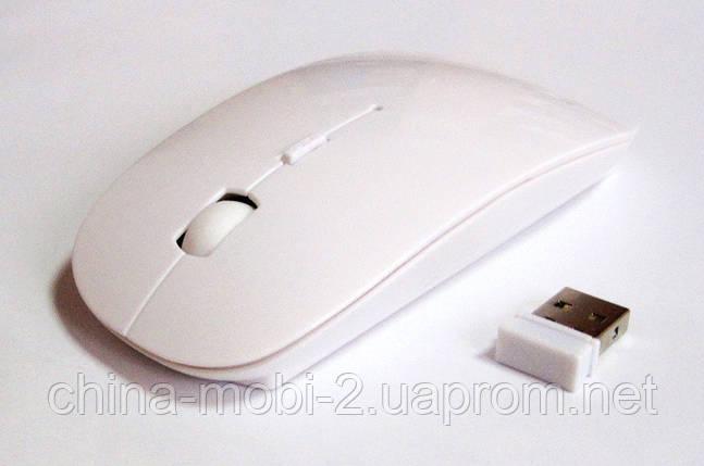 Мышь беспроводная (в стиле Apple), white, фото 2