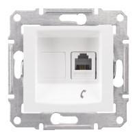 Розетка Schneider-Electric Sedna Телефонная RJ11 белая (SDN4101121)