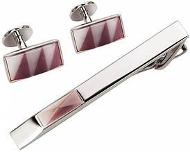 Оригинальный набор заколка для галстука и запонки S.Quire EG-16467