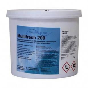 Средство для дезинфекции воды бассейна хлор мультитаб Freshpool, 5 кг (в таблетках по 200 гр)