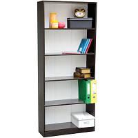 Шкаф для книг, этажерка деревянная 5 полок, венге