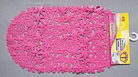 Коврик силиконовый антискользящий, цветы, розовый