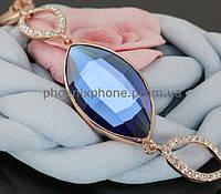 Сверкающий браслет с крупным кристаллом Swarovski, покрытый слоями золота (703061)