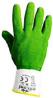 Перчатки латексные с вязаным манжетом, зеленым (4526) ТМ DOLONI / Украина