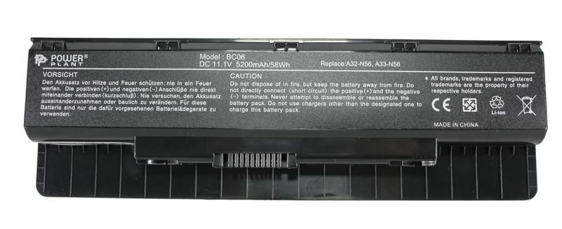 Аккумулятор PowerPlant для ноутбуков ASUS N46 (A32-N56) 11,1V 5200mAh