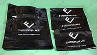 Печать логотипа на цветных пакетах