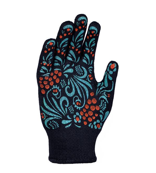 Перчатки  рабочие DOLONI ПВХ с 2-х сторон женские