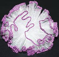 Бант на завязках, белый, фиолетовый ободок(2 шт) 21_3_24a9