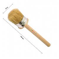 Кисть деревянная круглая 60 мм (набор 10 шт)