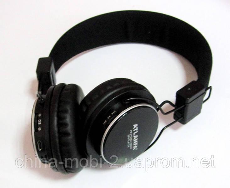 Беспроводные наушники ATLANFA AT-7607  с MP3 плеером и FM радио  new