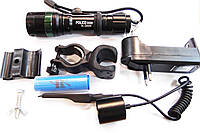 Фонарь аккумуляторный металлический POLICE BL-Q8455 18000W+ЗУ+вын кн+крепл