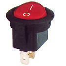 Переключатель клавишный круглый КП-16-И-220В