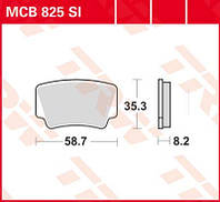 Тормозные колодки для квадроцикла KTM TRW / Lucas MCB825SI