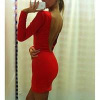 Женское Платье голая спина