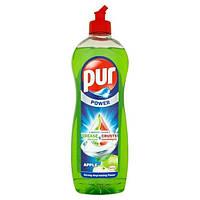 Бесфосфатное средство для мытья посуды с ароматом зеленого яблока Pur power apple  900 мл