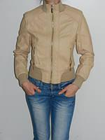 Короткая куртка женская демисезонная бежевая Black&Fish 163 размер S,L,XL,XXL