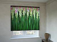 Рулонные шторы с фотопечатью каскад цветов