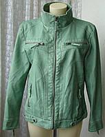 Куртка женская модная искусственная кожа демисезонная бренд Gina р.50 5488, фото 1
