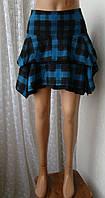 Юбка женская модная теплая демисезонная мини бренд Next р.48 5512