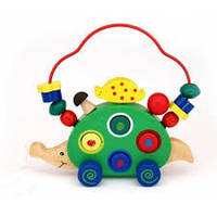 Деревянная игрушка каталка Ежик