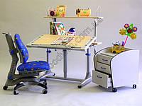 Комплект мебели Детский стол KD-338 + кресло синие, красные жуки KY-618 Goodwin