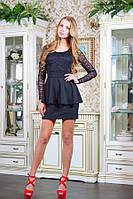 Платье с гипюровым верхом АНАБЕЛЬ, фото 1