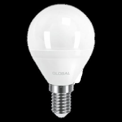 LED лампа GLOBAL G45 F 5W мягкий свет 220V E14 AP (1-GBL-143) (NEW), фото 2