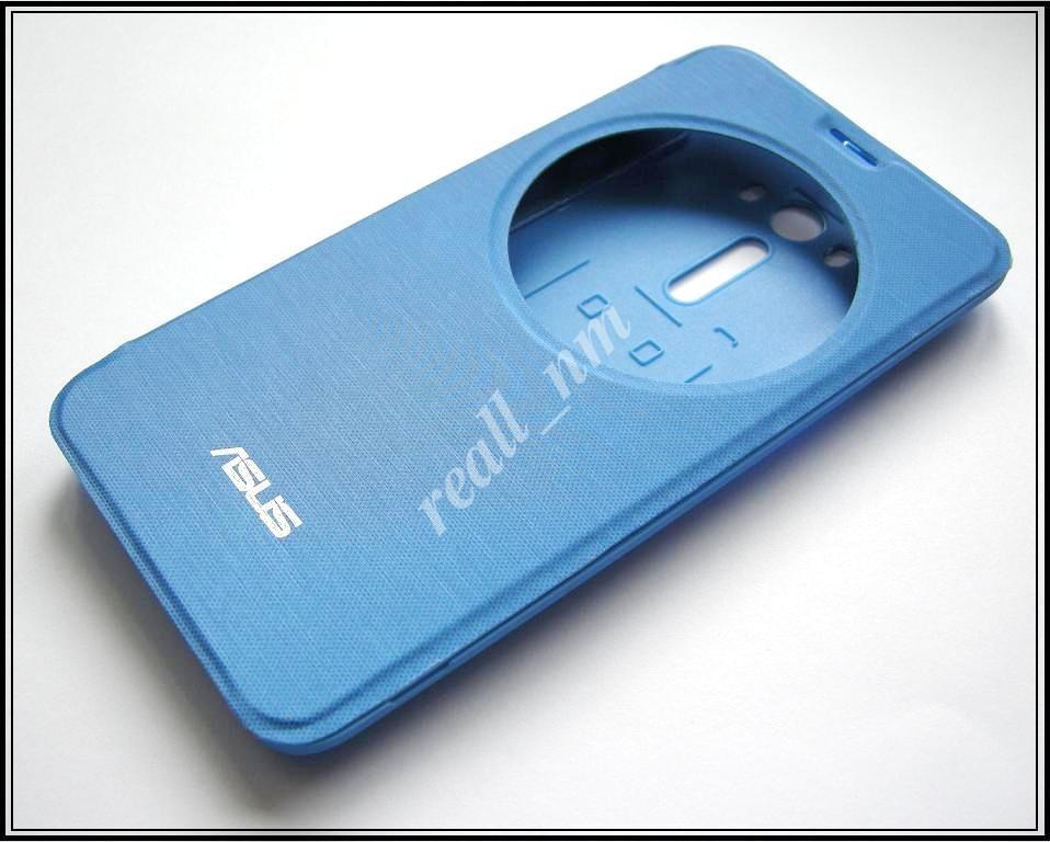Голубой чехол View Flip Cover для смартфона Asus ZenFone 2 Laser ZE550KL ZE551KL
