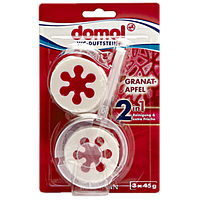Гелевые таблетки для унитаза Domol 2in1 Granat-Apfel, 3 * 45 мл