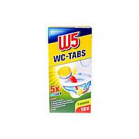 Таблетки для мытья унитаза W5 Lemon, 16 шт