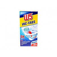 Таблетки для мытья унитаза W5 Breeze, 16 шт