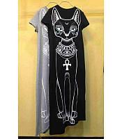 Женская туника-платье Египетская кошка