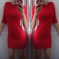 Женское Платье мини красное