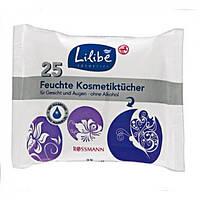 Влажные салфетки косметические Lilibe, 25 шт