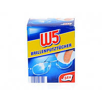 Салфетки для очистки очков W5, 54 шт