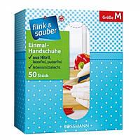 Перчатки одноразовые без латекса Flink&Sauber M, 50 шт