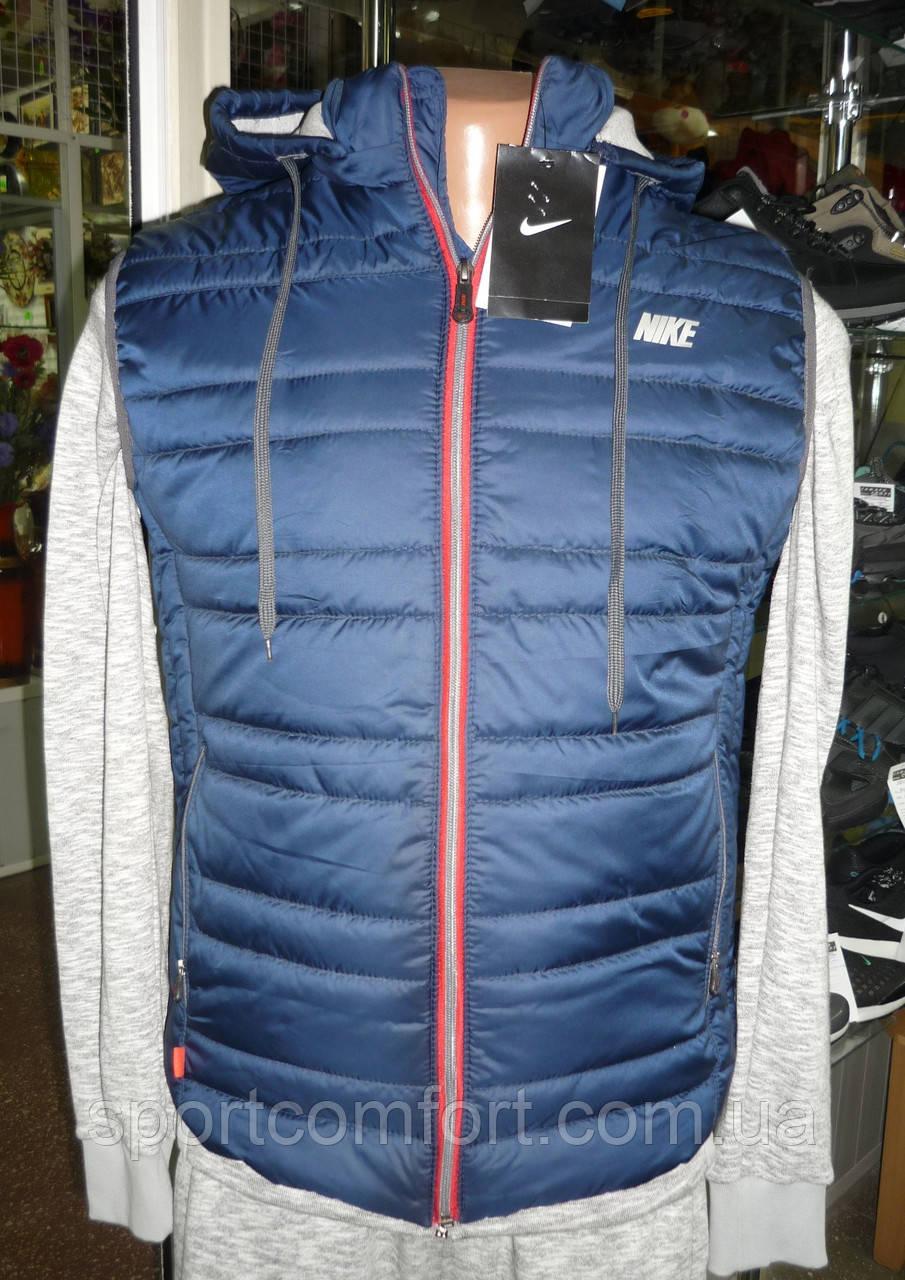 Жилетка Nike мужская т. синяя с красным 16