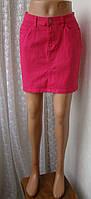 Юбка женская модная яркая джинсовая мини бренд Esmara р.42-44 5513